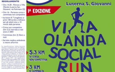 Corsa e camminata non competitiva Social Run